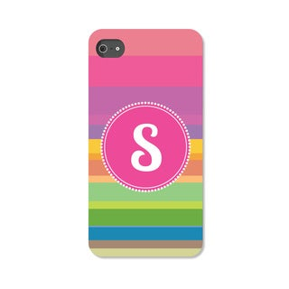 Rainbow Striped Personalized iPhone 5 Case