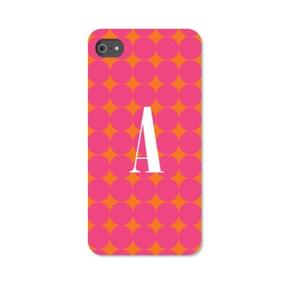 Pink Polka-dots Personalized iPhone 4 Case