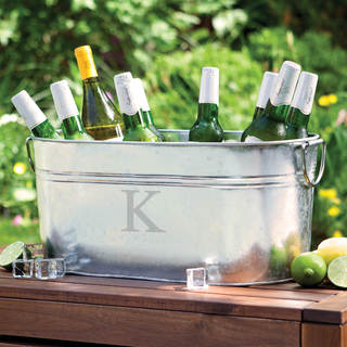 Personalized Steel Beverage Tub-Single Initial