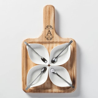Scroll Initial Personalized 9-Piece Server Set
