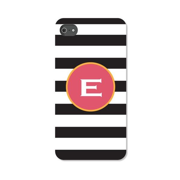 Black and White Striped Personalized I Phone 4 Case -  Custom Personalization Solutions, LLC, 50522