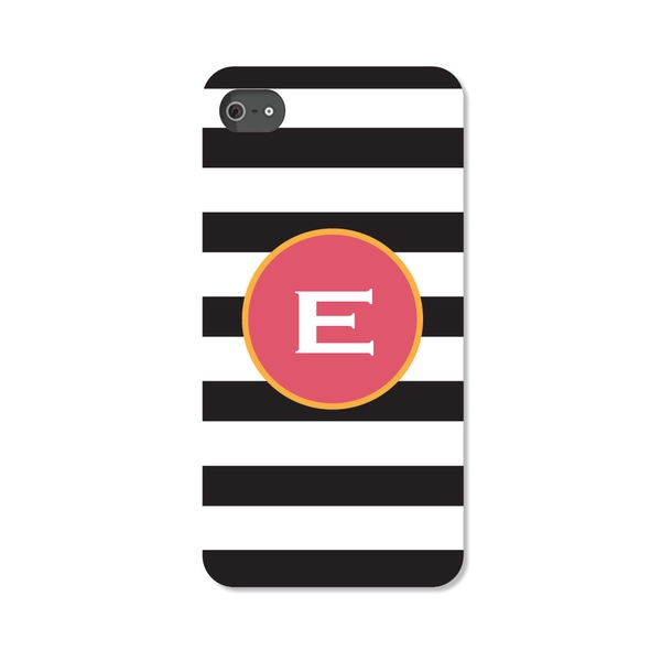 Black and White Striped Personalized I Phone 5 Case