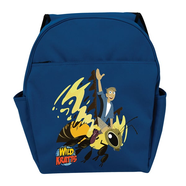 Wild Kratts Martins Wasp Ride Blue Toddler Backpack