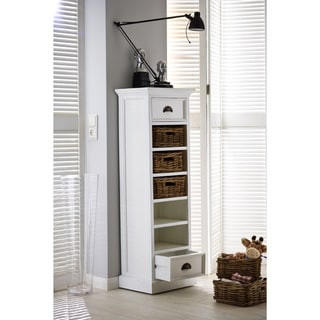 NovaSolo Mahogany Storage Tower with basket set