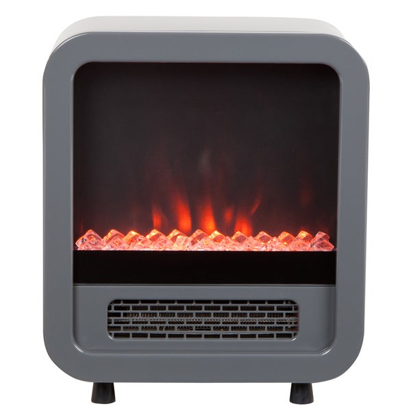 Silver Skyline Electric Protable Fireplace