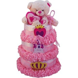 Art of Appreciation My Little Princess Newborn Baby Girl Diaper Cake Gift Tower