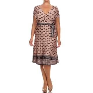 Women's Plus Size Elephant Print Dress