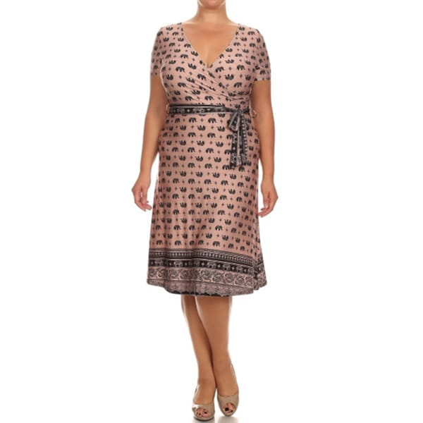 Women's Plus Size Elephant Print Dress