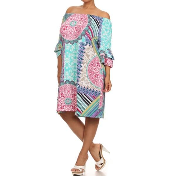 Women's Plus Size Loose Fit Print Dress