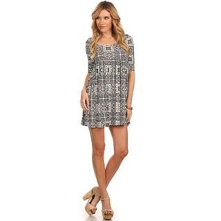 Women's Plus Size Checker Print Midi Dress