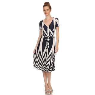 MOA Collection Women's Plus Size Midi Dress with Print
