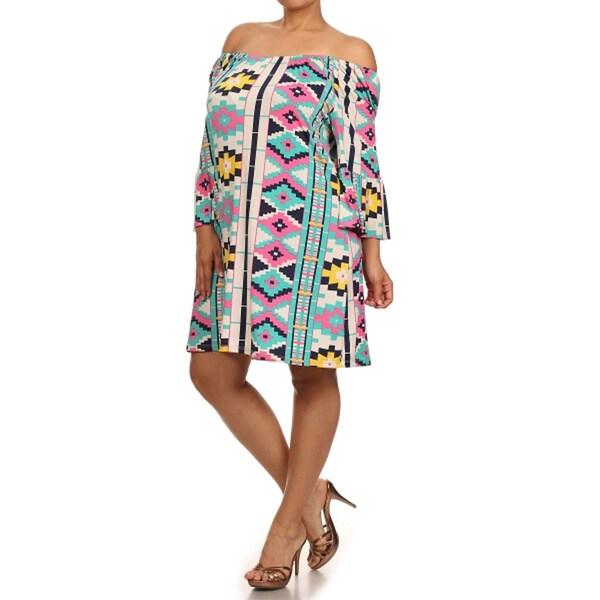 Women's Plus Size Aztec Print Dress