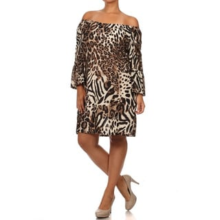Women's Plus Size Animal Print Relaxed Fit Dress