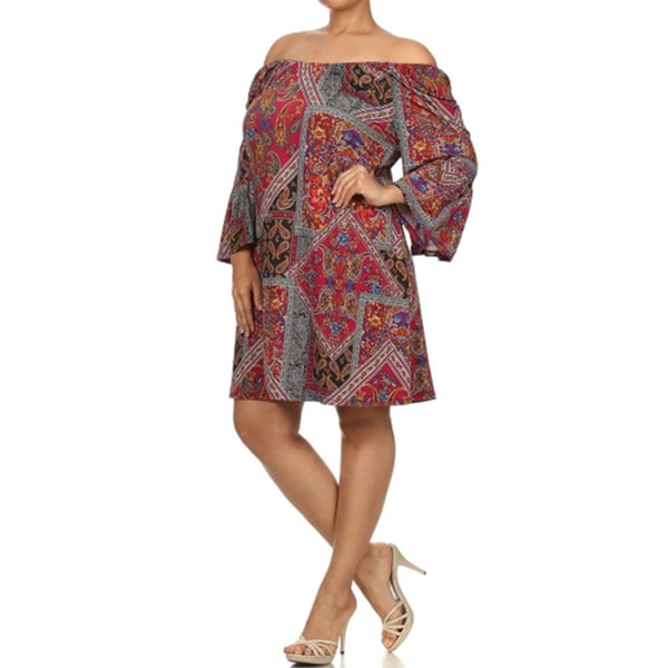 Women's Plus Size Paisley Print Shift Dress