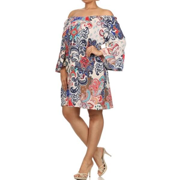 Women's Plus Size Geometric Print Shift Dress