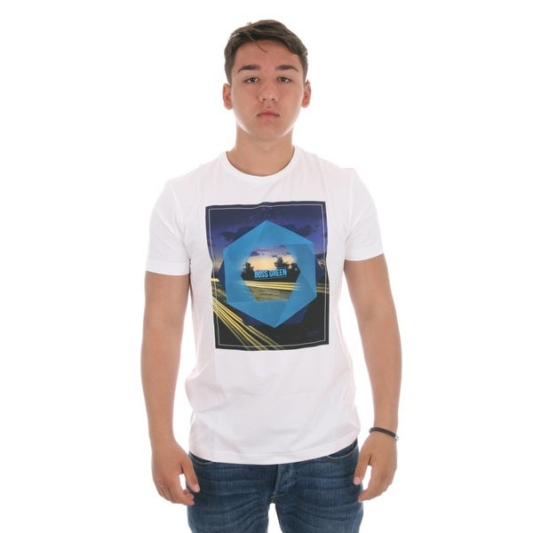 Hugo Boss White Tee 5 Graphic Short Sleeve T-Shirt