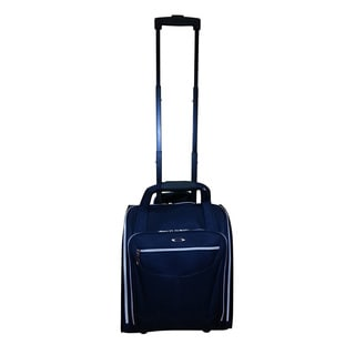 Kemyer Navy 15-inch Rolling Under-Seater Carry On Tote Bag