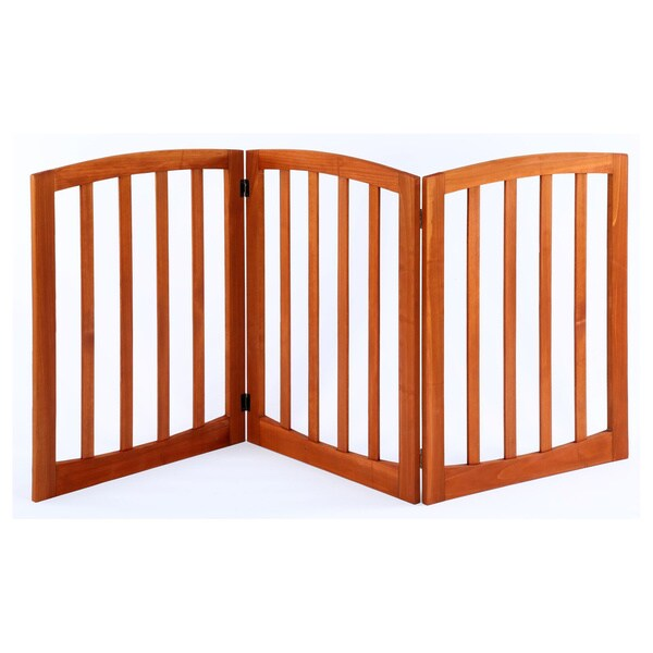 Wooden Arched Adjustable Pet Gate