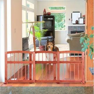 Wooden Arched Sliding Expandable Pet Gate 4807