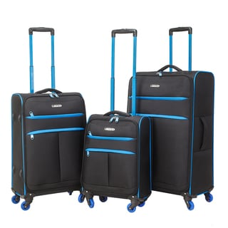 Traveler's Club Transcend 3-piece Super-Lite Two-Toned Spinner Luggage Set