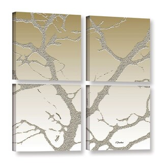 ArtWall Linda Parker 'Morning Light On Tree' 4 Piece Gallery-wrapped Canvas Square Set