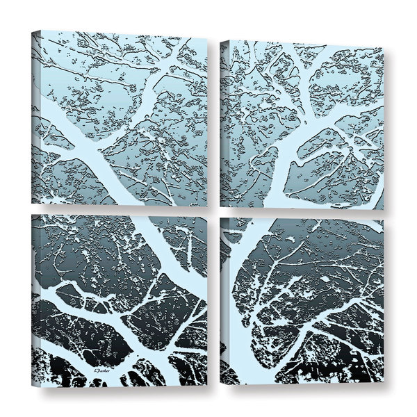 ArtWall Linda Parker 'Evening Light On Tree' 4 Piece Gallery-wrapped Canvas Square Set