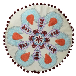 Vue Vista Round Embroidered Accessory Pillow