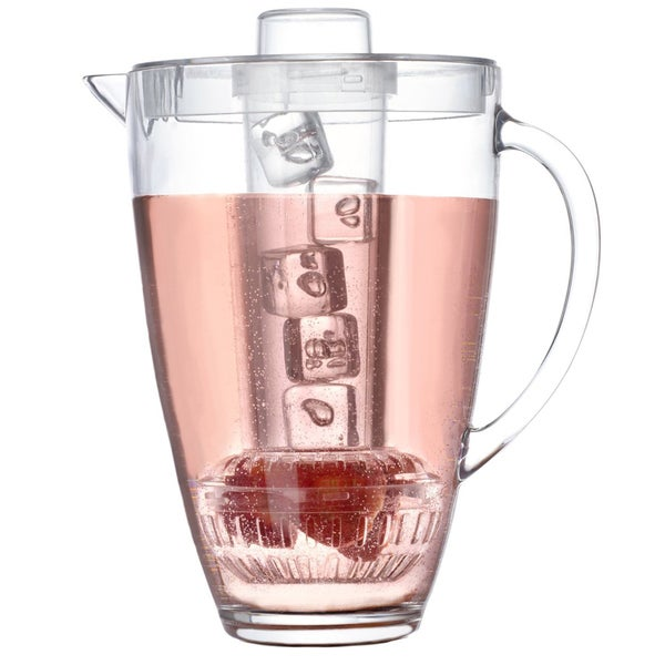 3 Quart Chill and Infuse Pitcher with Flavor Infuser and Cooling Cylinder