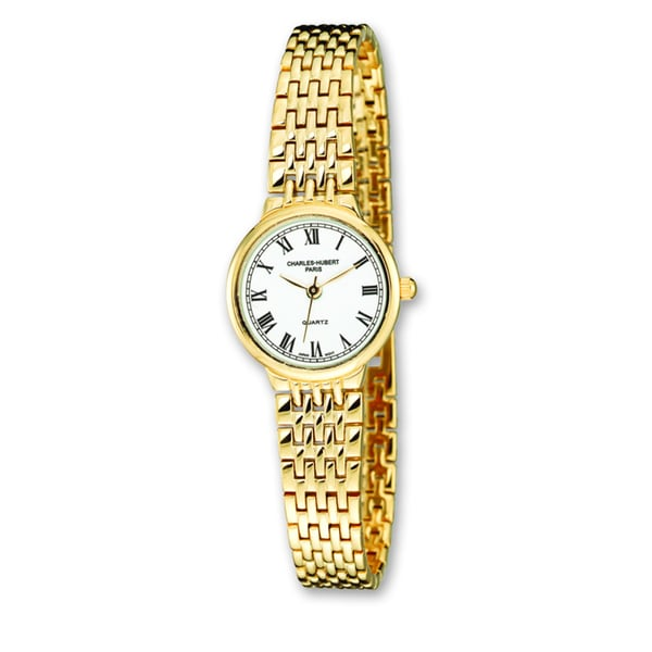 Ladies Charles Hubert Gold Finish Brass 24mm Watch