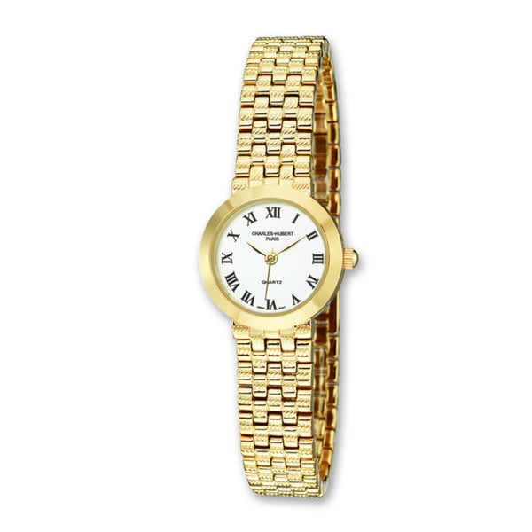 Ladies Charles Hubert Satin Gold Finish Brass 25mm Watch
