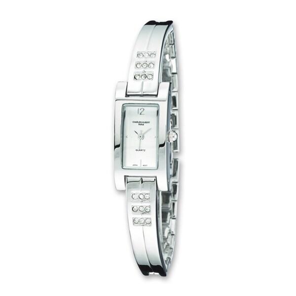 Versil Women's Charles Hubert Chrome Finish Brass Crystal Watch 16311109
