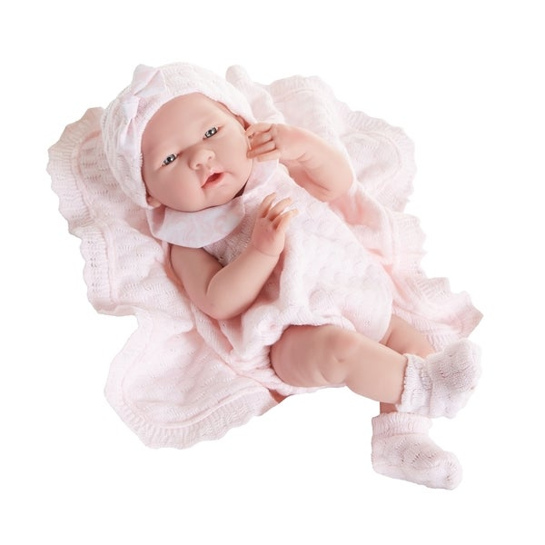 Realistic Newborn with Pink Knit Set