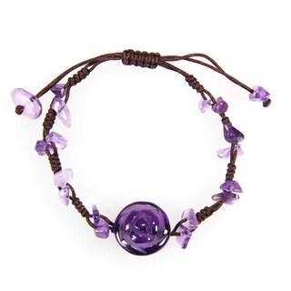 Handmade Amethyst Rose Bracelet (China)