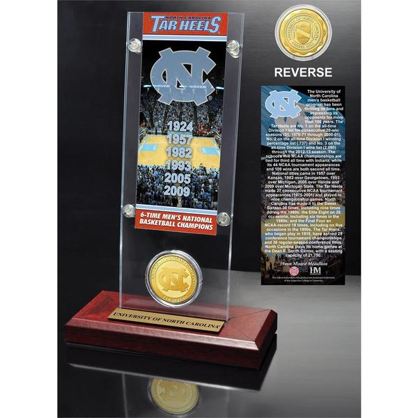 University of North Carolina 6- time National Champions Ticket and Bronze Coin Desk Top Acrylic