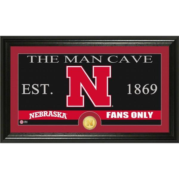 University of Nebraska 'Man Cave' Bronze Coin Panoramic Photo Mint
