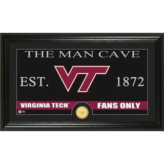 Virginia Tech University 'Man Cave' Bronze Coin Panoramic Photo Mint