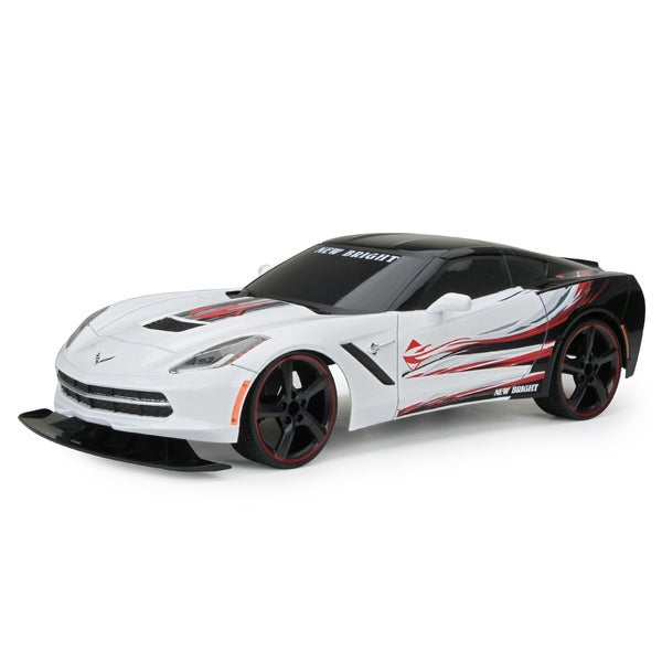 New Bright 1:10 Scale C7 White Corvette