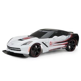 New Bright 1:10 Scale C7 White Corvette