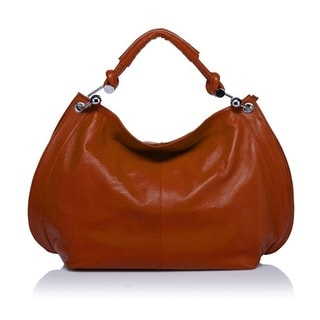 Amelia Italian Leather Hobo Handbag