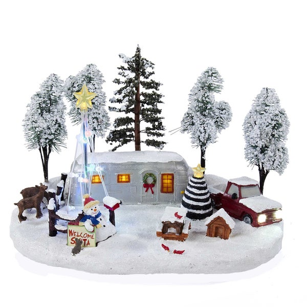 Kurt Adler 12-inch Battery-Operated Christmas LED Scene