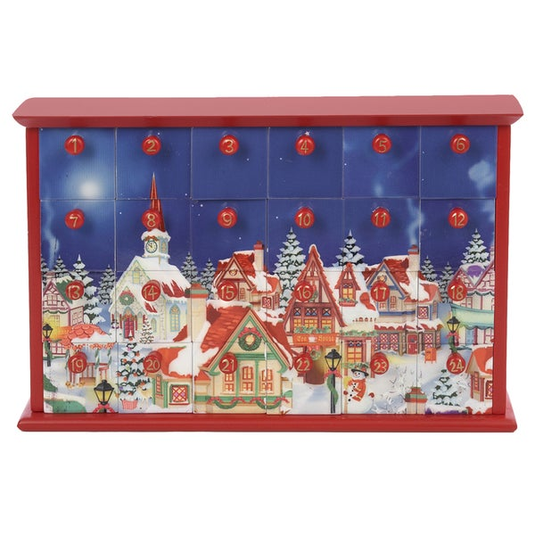 Kurt Adler 12.4-inch Advent Calendar with 24 Empty Drawers