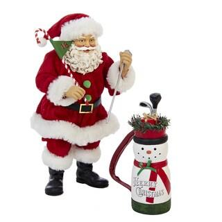 Kurt Adler 10-inch Golf Santa (2-piece Set)
