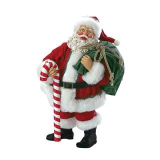 Kurt Adler 10-inch Santa Holding Bag
