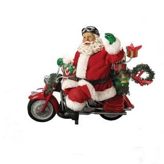 Kurt Adler 10.5-inch Motorcycle Santa
