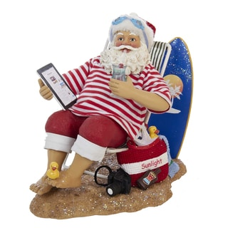 Kurt Adler 10-inch Swimming Santa
