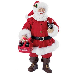 Kurt Adler 9-inch Coca Cola Santa with Six Pack