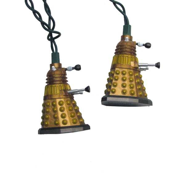 Kurt Adler UL 10-Light Doctor Who Bronze Dalek Light Set