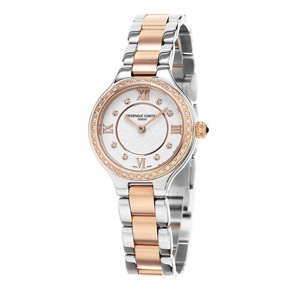 Frederique Constant Women's FC-200WHD1ERD32B 'Delight' Cream Diamond Dial Stainless Steel Two Tone S 16311676