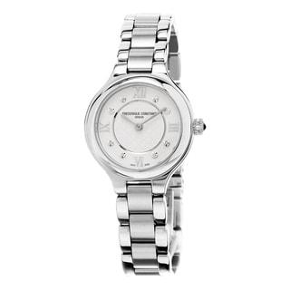 Frederique Constant Women's FC-200WHD1ER36B 'Delight' Cream Diamond Dial Stainless Steel Swiss Quartz Watch