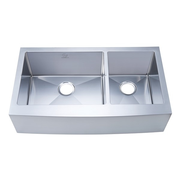 NationalWare Apron/Farmhouse Stainless Steel 36 in. Double Bowl Kitchen Sink in Stainless Steel 16311688